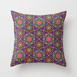 African Tile  Throw Pillow