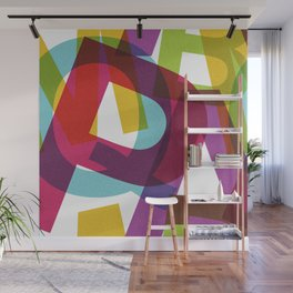 Crossletters Patterns Wall Mural