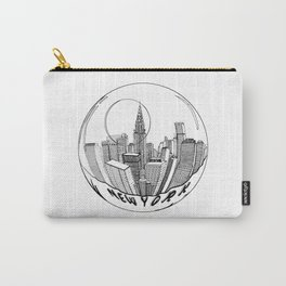 THE CITY of New York in a Suspended Bowl . Artwork Carry-All Pouch