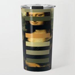 Mona Lisa Palette Pastel Collage Travel Mug