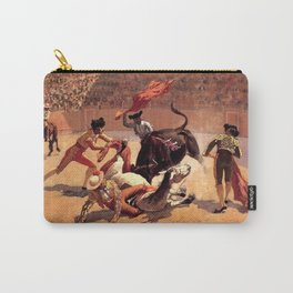 """Frederic Remington Western Art """"Bullfight in Mexico"""" Carry-All Pouch"""