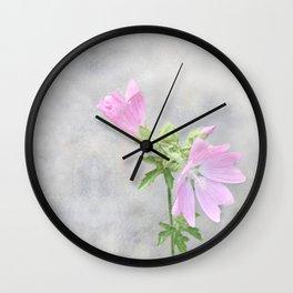 Pink Mallow Wall Clock