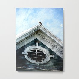 The Pigeon Above The Attic and On the Roof Metal Print