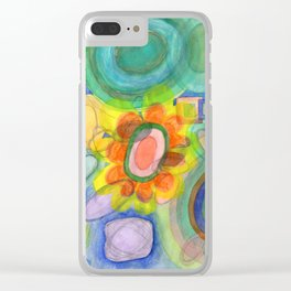 A closer Look at the Flower Universe Clear iPhone Case