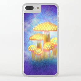 Yellow Bioluminescence Clear iPhone Case