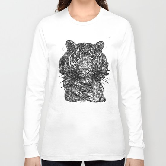 Tiger line drawing Bl Long Sleeve T-shirt