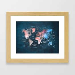 world map 45 Framed Art Print