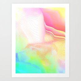 Pastel Pool Hallucination Art Print