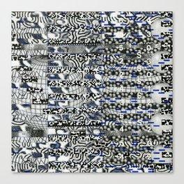 Clipboard'n (P/D3 Glitch Collage Studies) Canvas Print