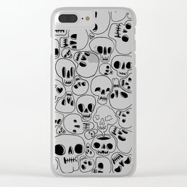 Dead Face Squad Clear iPhone Case
