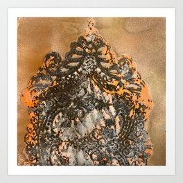 Copper, Bronze, Orange Memories  Art Print