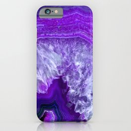 purple stone iPhone Case