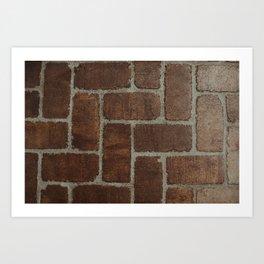 Brick Pattern in Spain Art Print