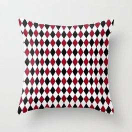Diamond Harlequin Pattern Throw Pillow
