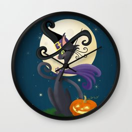Halloween Night Magic Wall Clock