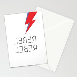 David Rebel Rebel Rock Music Aladdin Sane Bolt Glam Rock Music Stationery Cards