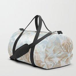 Watercolour in Blue Gold Duffle Bag