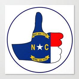 Thumbs Up North Carolina Canvas Print