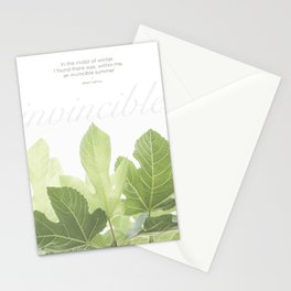 Invincible by Albert Camus Stationery Cards