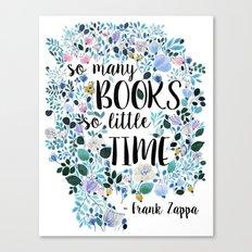 So many books Canvas Print
