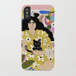 Life with cats iPhone Case