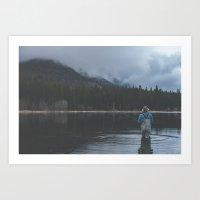 fishing Art Prints featuring Fishing by Luke Gram
