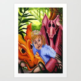 Abigail and her Dragons Art Print