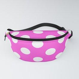 Purple pizzazz - pink - White Polka Dots - Pois Pattern Fanny Pack
