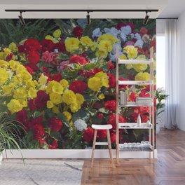 Begonias in Flower Wall Mural