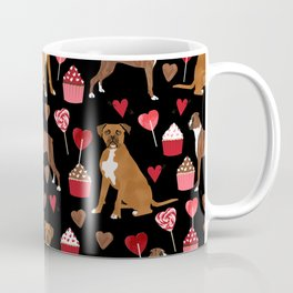 Boxer valentines day cupcakes heart love dog breed must have gifts Coffee Mug