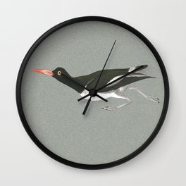Oystercatcher on the run Wall Clock