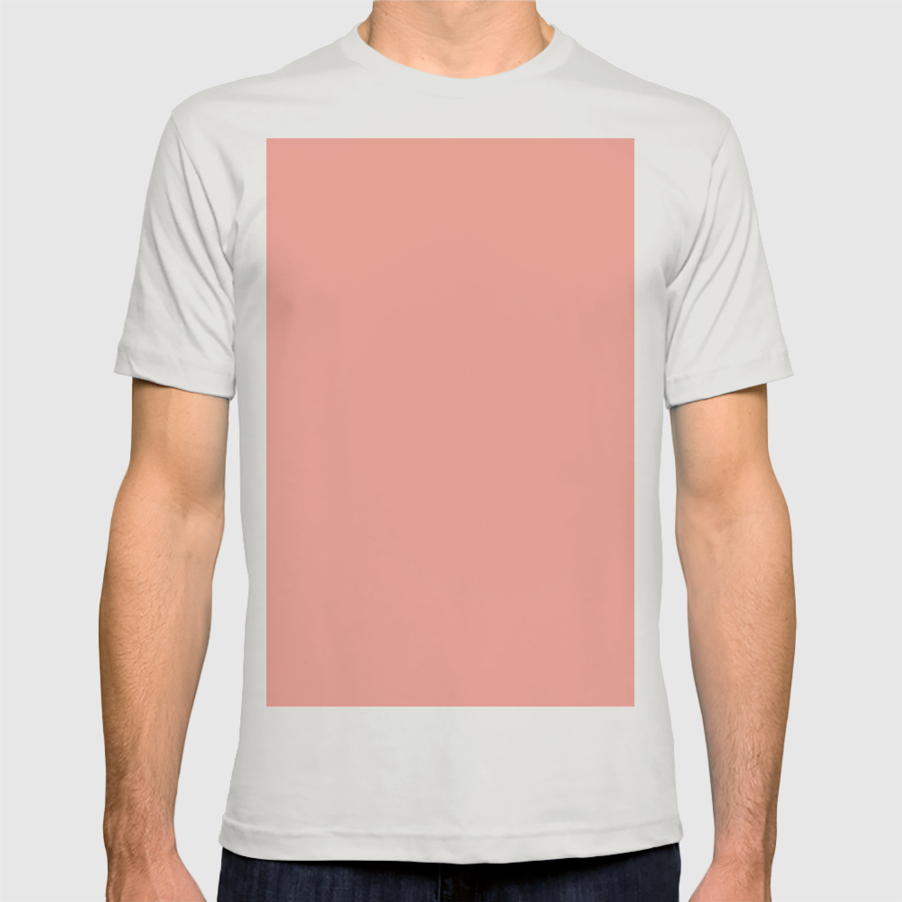 773c615b Simply Salmon Pink T-shirt by followmeinstead | Society6