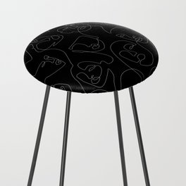 Face Lace Counter Stool