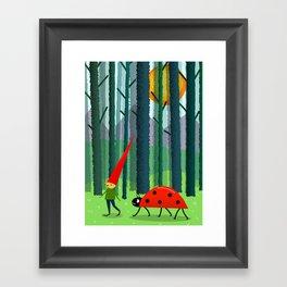 Best friends or a Dwarf and a Ladybug Framed Art Print
