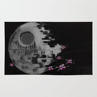 death star Area & Throw Rugs featuring Death Star by Berta Merlotte