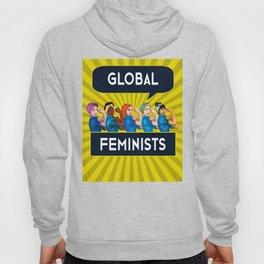 Global Feminists Women Girls design Rosie Riveter Design Hoody