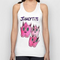 tits Tank Tops featuring jiggly Tits by Sarah Leitten