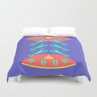 lobster Duvet Covers featuring lobster by pam beach