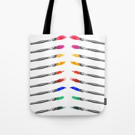 Palette of Brushes - square Tote Bag
