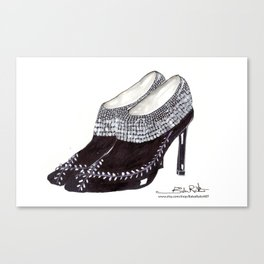 Manolos so French  Canvas Print