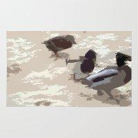 ducks Area & Throw Rugs featuring Ducks by Kimberley Shaw