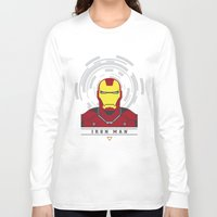 ironman Long Sleeve T-shirts featuring IRONMAN by Nuthon Design