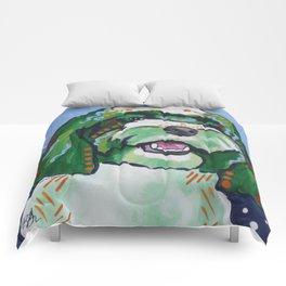 Havanese Pop Art Dog Portrait Comforters