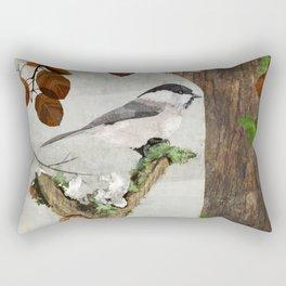 Marsh Tit Rectangular Pillow