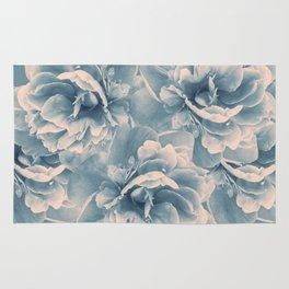 Blush Blue Peony Flower Bouquet #1 #floral #decor #art #society6 Rug