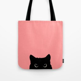 Sneaky black cat Tote Bag