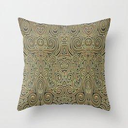 Golden Manipura 3 Throw Pillow