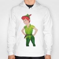 peter pan Hoodies featuring Peter Pan by Sierra Christy Art