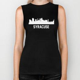 Syracuse New York Skyline Cityscape Biker Tank
