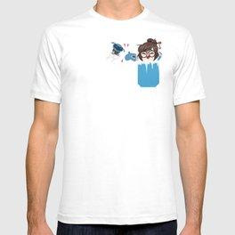Pocket defense mei T-shirt